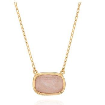 Morganite Cushion Necklace