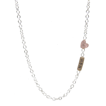 HEATHER B. MOORE - MOM NECKLACE WITH HEART ACCENT