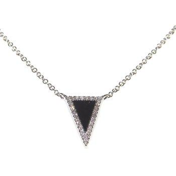 Black Onyx and Diamond Necklace