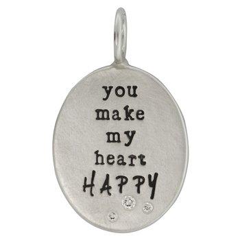 HEATHER B. MOORE - YOU MAKE MY HEART HAPPY CHARM