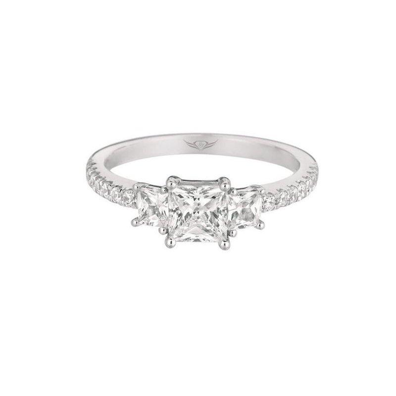 MAZZARESE Bridal PRINCESS CUT DIAMOND ENGAGEMENT RING