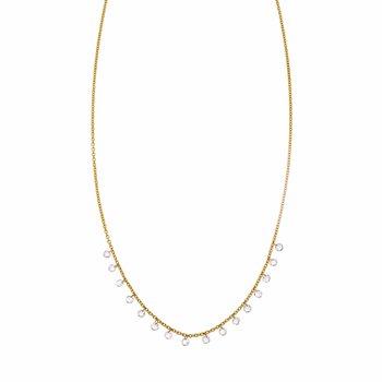 Sethi Couture Cien Long Drop Rose Cut Diamond Necklace