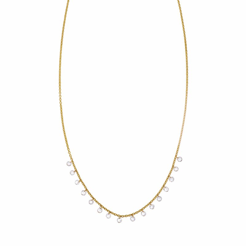 Sethi Couture Sethi Couture Cien Long Drop Rose Cut Diamond Necklace