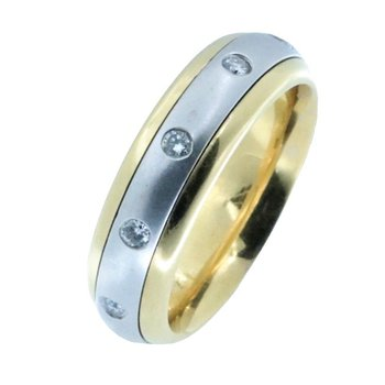 TWO-TONE GOLD SPINNER WEDDING BAND