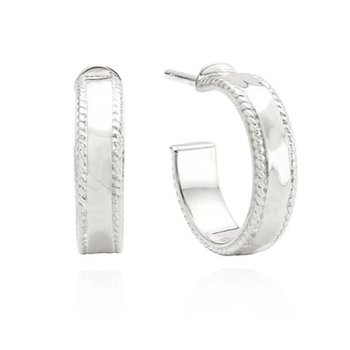 ANNA BECK HAMMERED HOOPS - SILVER