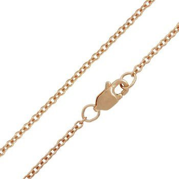 """1.5mm 14K rose gold cable chain 16"""""""