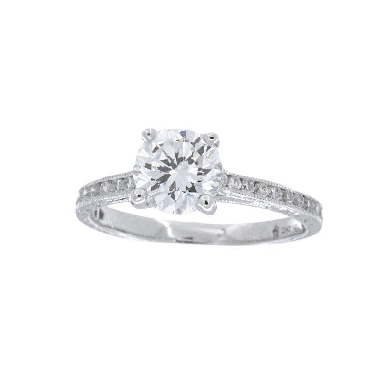Beverley K WHITE GOLD DIAMOND SOLITAIRE ENGAGEMENT RING