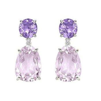 Vianna B.R.A.S.I.L. Pink and Purple Amethyst Earrings