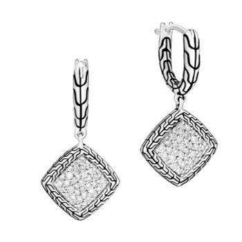Classic Chain Drop Earring with Diamonds