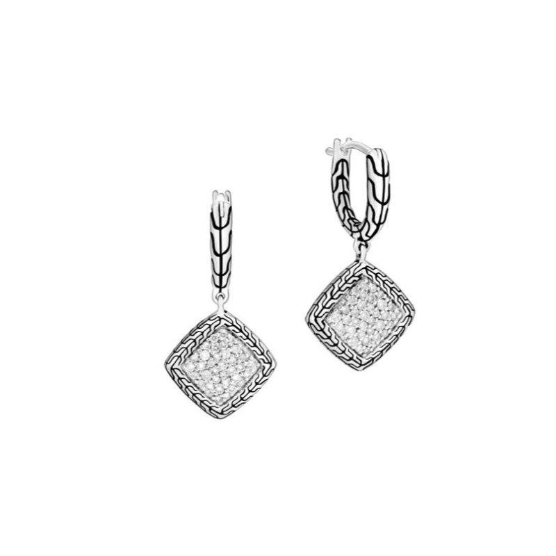 JOHN HARDY Classic Chain Drop Earring with Diamonds