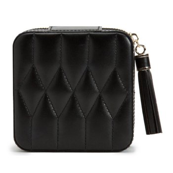 Caroline Zip Travel Case, black leather