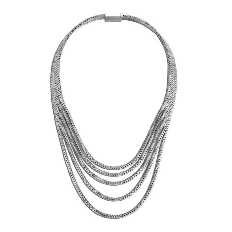 JOHN HARDY Rata Chain Multi Row Necklace
