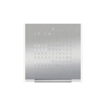 QLOCKTWO TOUCH Full Metal - Silver Base (No Additional Covers)