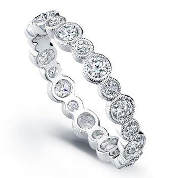 WHITE GOLD BEZEL DIAMOND RING