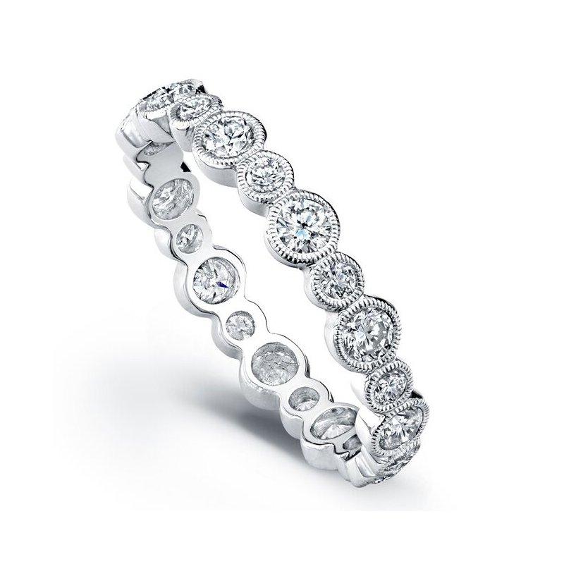 Beverley K WHITE GOLD BEZEL DIAMOND RING