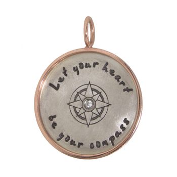 HEATHER B. MOORE - LET YOUR HEART BE YOUR COMPASS CHARM