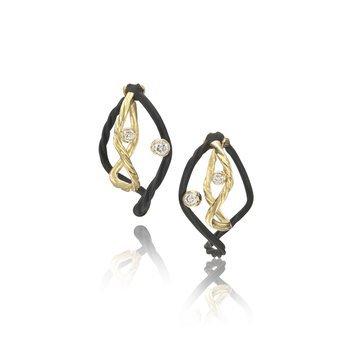 SARAH GRAHAM CLOVER DIAMOND EARRINGS