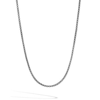 Box Chain Blackened Necklace