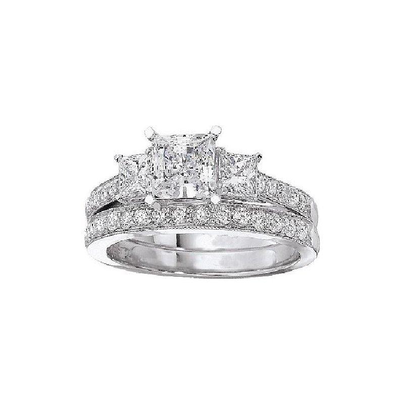 MAZZARESE Bridal 3-STONE DIAMOND ENGAGEMENT RING
