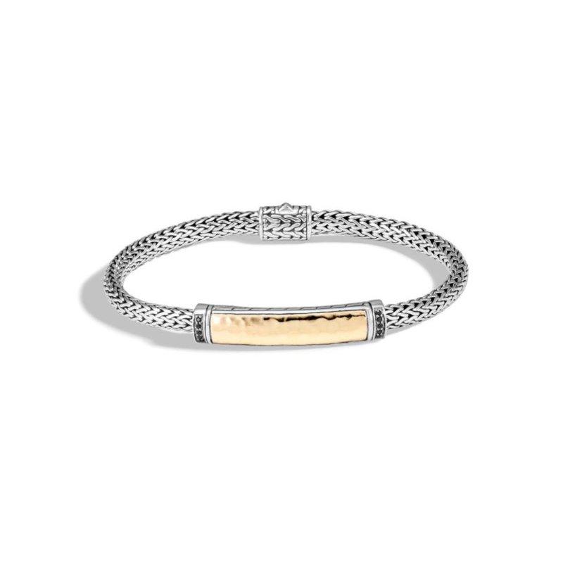 JOHN HARDY Classic Chain Hammered Station Bracelet