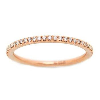ROSE GOLD DIAMOND ETERNITY RING