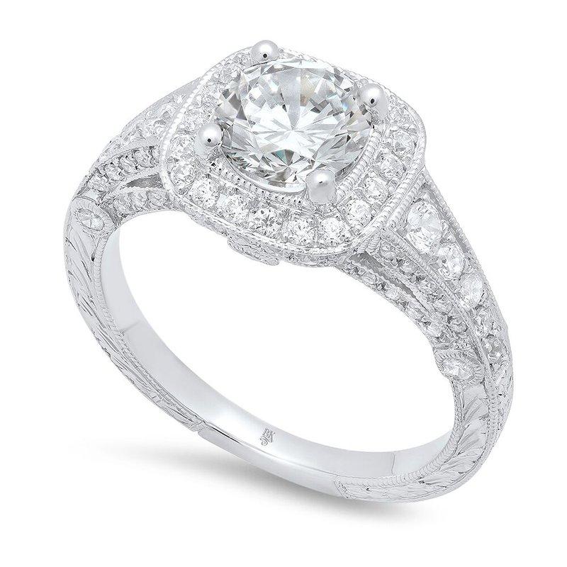 Beverley K WHITE GOLD HALO ENGAGEMENT RING