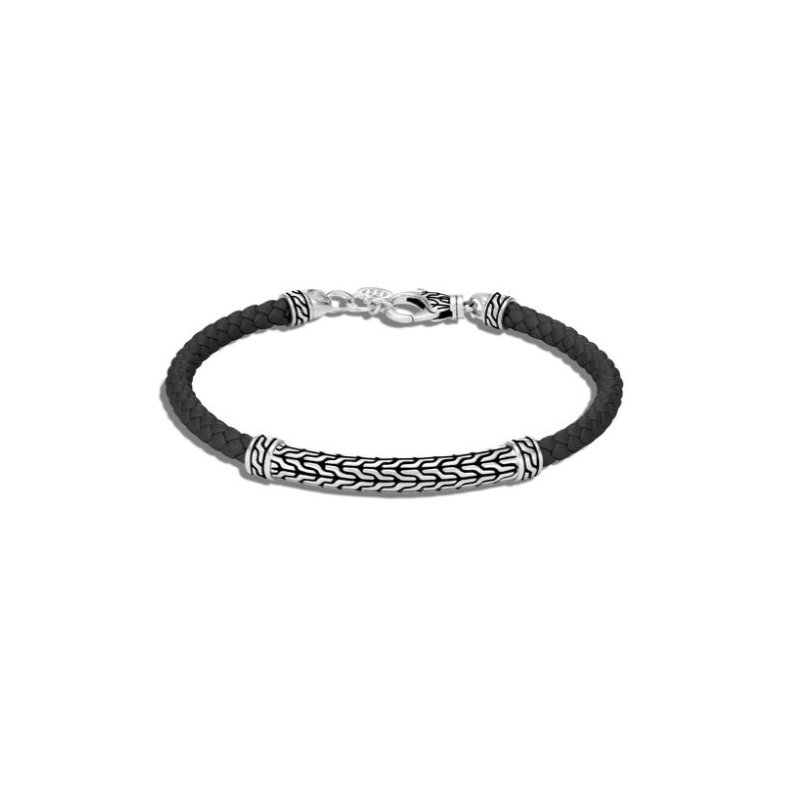 JOHN HARDY Classic Chain Station Bracelet with Leather