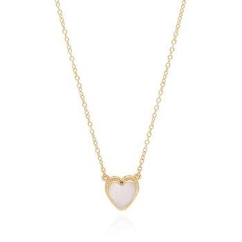 Engravable Rose Quartz Heart Necklace