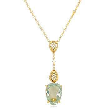 Vianna B.R.A.S.I.L. Double Pave with Prasiolite Necklace