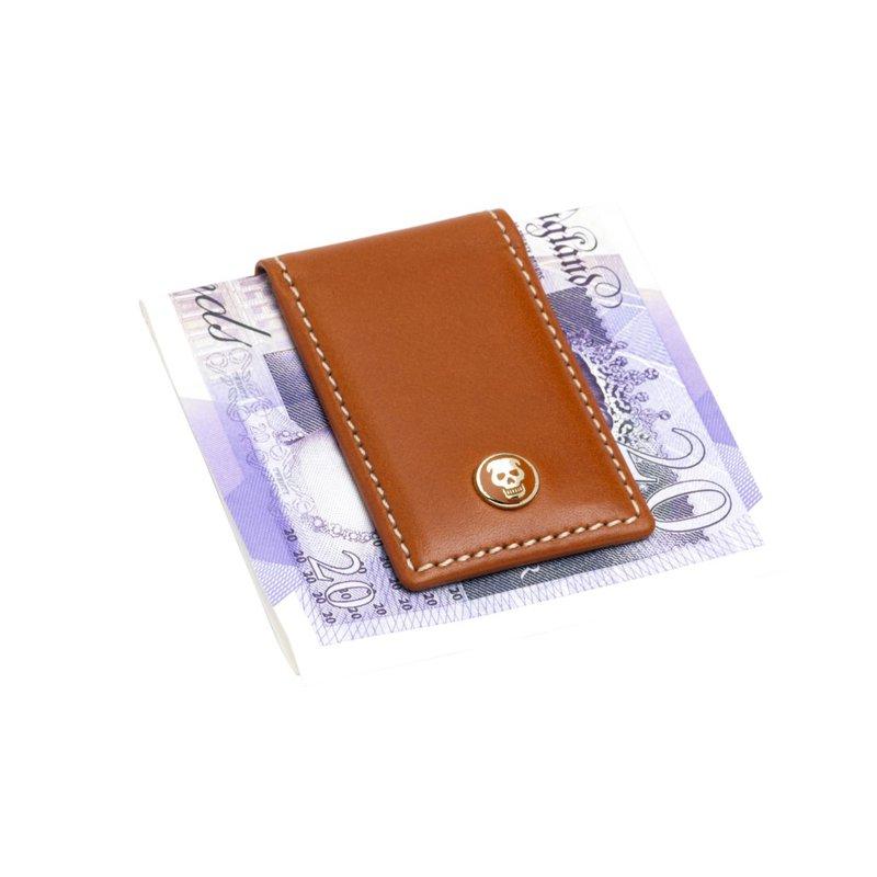 Pre-Owned Luxury Handbags MONEY CLIP TANLTHR        SKULL SLV