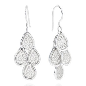 ANNA BECK CLASSIC CHANDELIER EARRINGS - SILVER