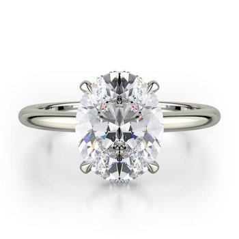 MICHAEL M CROWN SOLITAIRE ENGAGEMENT RING
