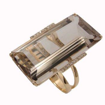 Vianna B.R.A.S.I.L.  Smoky Quartz Diamond Ring