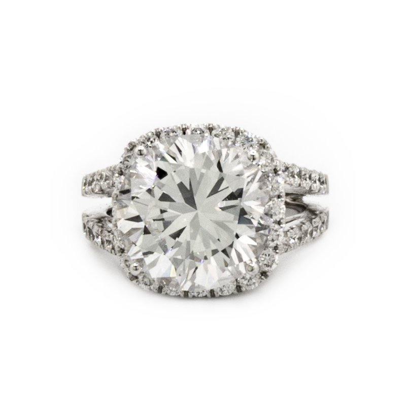 Mazzarese Couture DIAMOND HALO ENGAGEMENT RING
