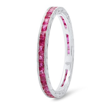 CHANNEL-SET RUBY RING