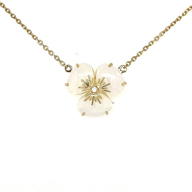 Vianna Vianna B.R.A.S.I.L. Pansy Opal Quartz and Diamond Necklace