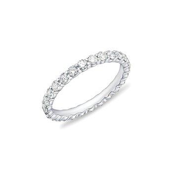 MEMOIRE PETITE PRONG DIAMOND ETERNITY BAND