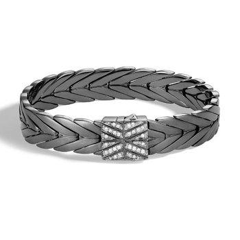 Modern Chain Bracelet with Diamonds