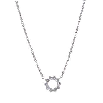 A.LINK DIAMOND CIRCLE NECKLACE