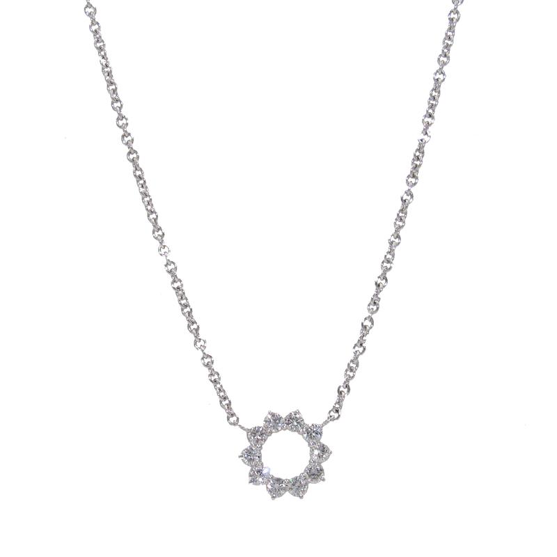 A. Link A.LINK DIAMOND CIRCLE NECKLACE