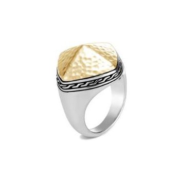 Classic Chain Hammered Sugarloaf Ring