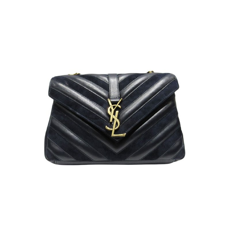 Pre-Owned Luxury Handbags SAINT LAURENT Mediium Lou Satchel