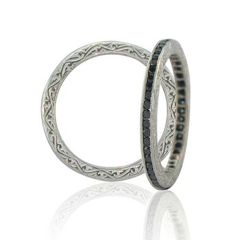 Sethi Couture Channel Black Diamond Band