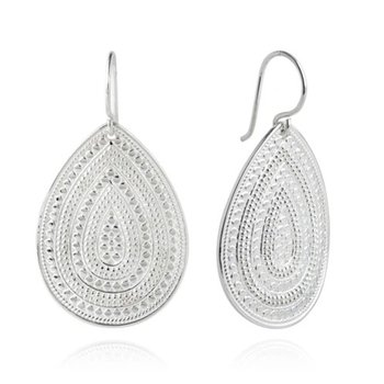 ANNA BECK CLASSIC LARGE TEARDROP EARRINGS - SILVER