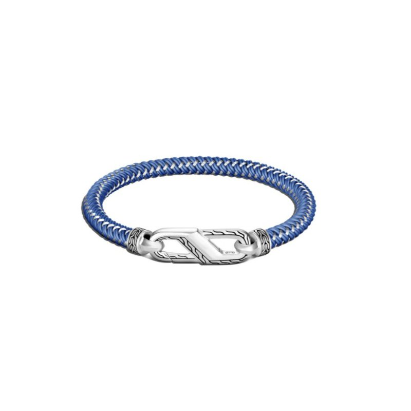 JOHN HARDY Classic Chain Bracelet with Steel Cord