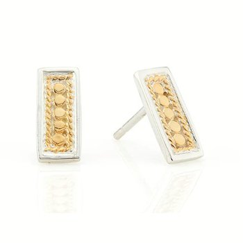 ANNA BECK DOTTED BAR STUD EARRINGS