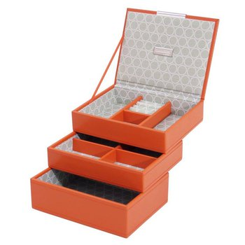 ORANGE MINI STACKBLE JWLRY BOX