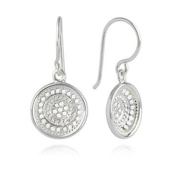 Classic Dish drop earrings in Sterling Silver
