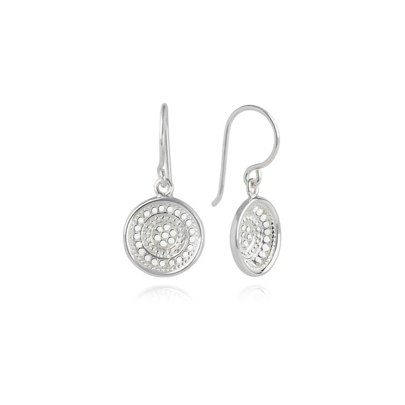 Anna Beck Classic Dish drop earrings in Sterling Silver