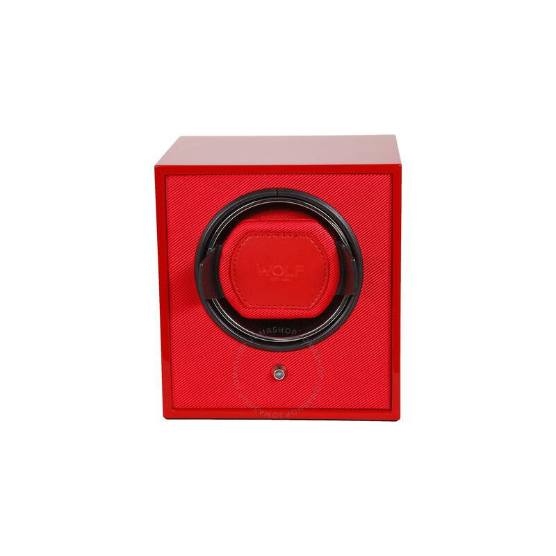 WOLF LACQUERED CUB WATCH WINDER - RED
